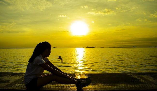 Mädchen in der Sonne