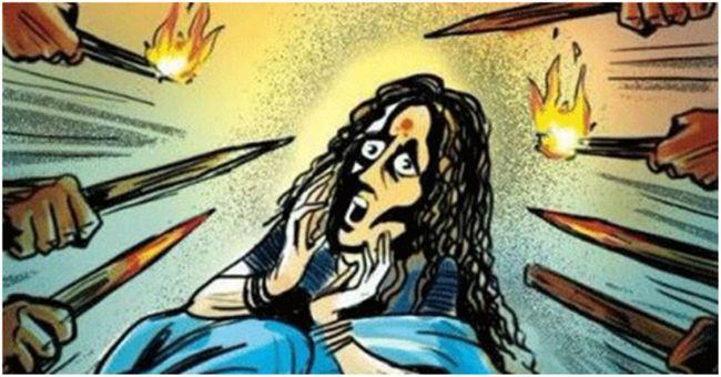 63-jährige Frau Assamese unter dem Verdacht enthauptet eine Hexe zu sein