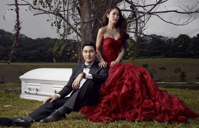 Coffin-Foto-Shooting vor der Hochzeit Thema regt die Phantasie des Internet