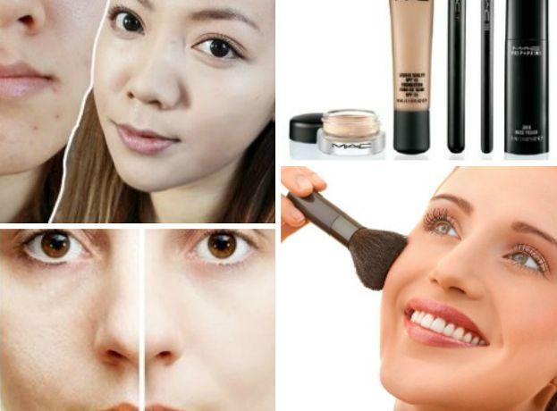 Abdeckung Narben und Defekte mit Make-up