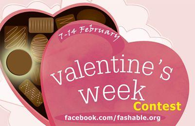Der Wettbewerb Fashable valentine Woche