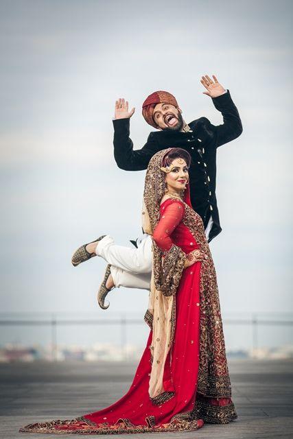 Bräutigam der Frau in der Hochzeit Foto-Epos