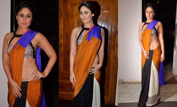 Kareena Kapoor in einem bunten Sari