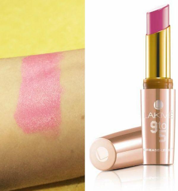 Lakmé 9-5 creaseless Lippen 2 PC Überprüfung und Laden der Proben rosa