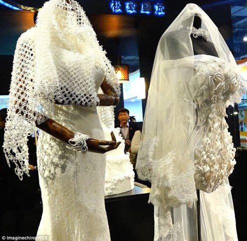 Unter über die Zukunft der Brautmode - 3d gedruckt Brautkleider!
