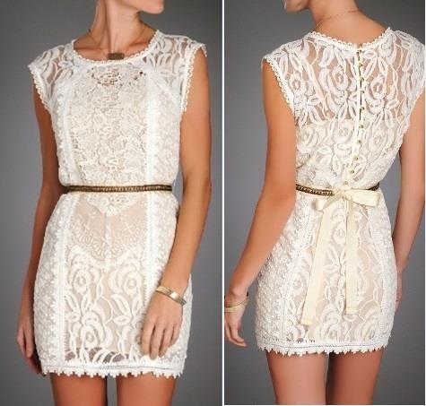 Lwd (kleines weißes Kleid) im Stil der Spitze