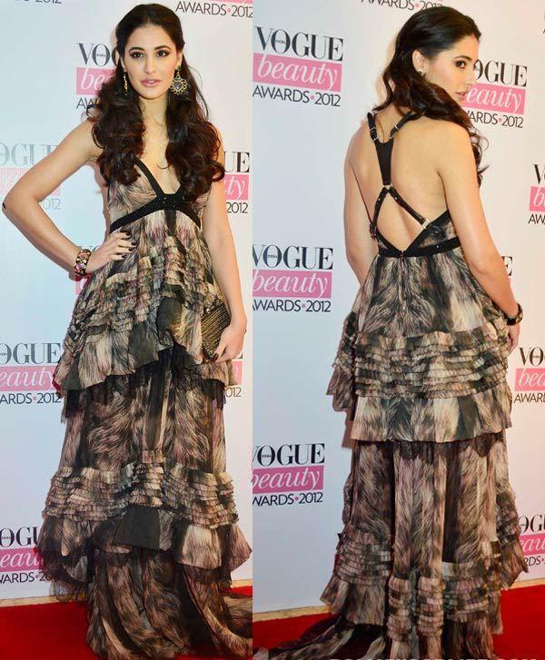 Nargis Fakhri im Designer Maxi-Kleid