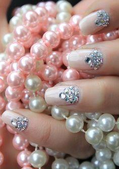 Nail art Pearly Pink