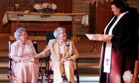 Gleichgeschlechtliche Paare Boyack Vivian und Alice Dubé führte nach 72 Jahren Zusammensein
