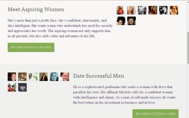 SeekingMillionaire.com, Homepage'accueil