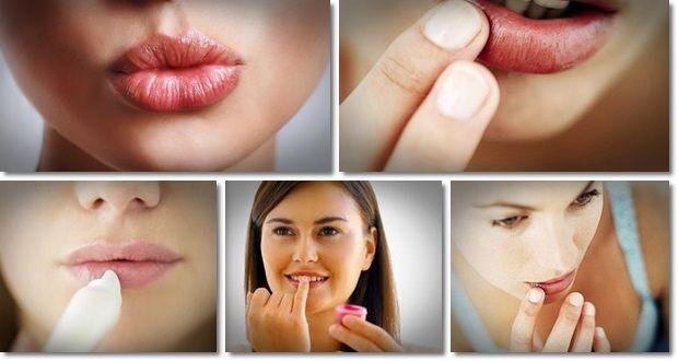 Behandeln Sie rissige Lippen natürlich