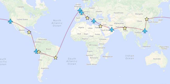 Whirlwind romantisches Paar besuchte sieben Wunder der Welt in 13 Tage!