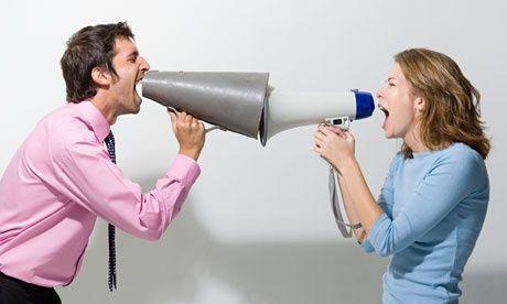 Dinge, die Männer und Frauen streiten über mehr