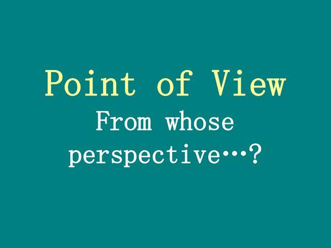 Dritte Sicht der Person,
