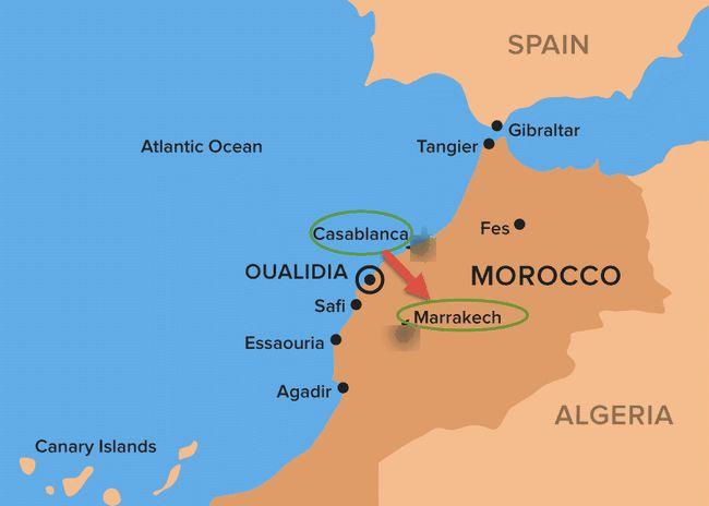 Former Casablanca nach Marrakesch