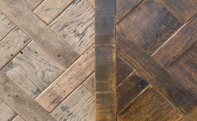 Palette upcycle In einem Holzfußboden
