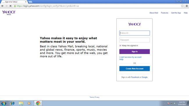 Yahoo Mail-Konto wieder geöffnet